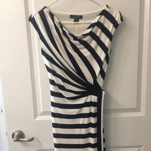Blue & White stripped dress worn once.